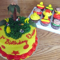 Sweet Larissa's Curious George Cake And Cups