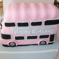 Pink Bus This is my first bus cake. Sponge cake with fondant covering