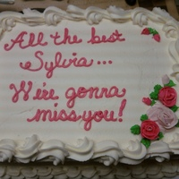 Sylvia's Retirement White cake with buttercream
