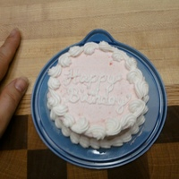 Mini Birthday Cake Strawberry cake with strawberry buttercream
