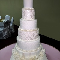Posting After A Long While My First 6 Tiered Cake With All Handmade Gumpaste Roses For The Topper And Bottom Most Tier The Bride Wanted St... Posting after a long while. My first 6 tiered cake with all handmade gumpaste roses for the topper and bottom most tier.The bride wanted...