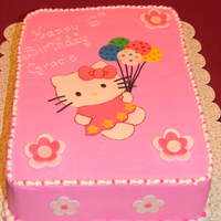 Hello Kitty Fondant Hello Kitty to match invitation.