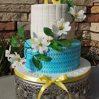 Dogwood Flower Cake I love it when you get total free reign on a design. The only request on this cake was flavor and that it included dogwood flowers. I never...