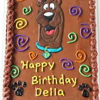 Scooby Doo Birthday Cake Color flow scooby