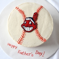 Cleveland Indians Mlb Color flow indian; white cake with orange Cointreau icing