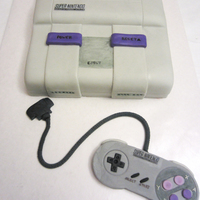 Super Nintendo Nes Birthday Cake Super Nintendo NES birthday cake; controller made from fondant