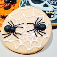 Spider Sugar Cookie Spider Web sugar cookie - royal icing. I tried some new techniques and was totally inspired by all the wonderful creations on here and...
