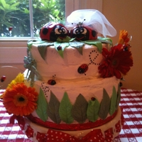 Bridal Shower Made for my niece's Bridal shower. Carrot cake with crream cheese frosting.