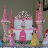 For A Little Princess  For a five year old princess she wanted a strawberry cake with strawberry filling. Towers made from ice cream cones dipped in pink...