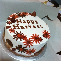 Happy Harvest I donated this cake for my daughters school silent cake walk. used my cricut cake for the letters