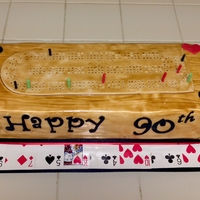 Cribbage Board Birthday Cake I made this special cake for my grandpa's 90th birthday. I had a hard time coming up with cake ideas. He loves to play cribbage. So I...