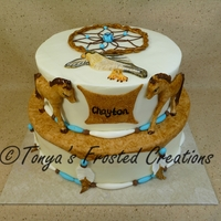 Native American Cake This cake was made for a baby shower/adoption party. It was an Native American theme. His name, Chayton, means falcon in Native American....