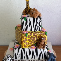 Jungle Theme 2Nd Bd Cake