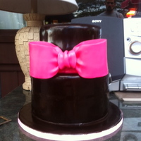 Chocolate With Pink Bow