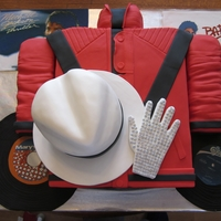 Michael Jackson Jacket, Hat, & Glove This cake was for a Michael Jackson Dance Party. Thriller jacket, white hat, & glove. Chocolate chip lemon pound cake, chocolate...