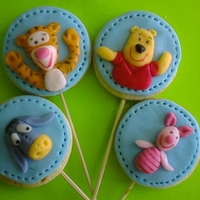 Winnie Pooh And Friends Cookies   butter cookies, fondant decoration