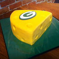 Green Bay Packers Cheese Wedge Grooms Cake Green Bay Packers Cheese Wedge Groom's Cake