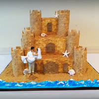 Sand Castle Wedding Cake Sand castle wedding cake
