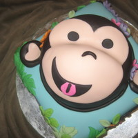 Monkey Cake - Bounce House Birthday Party