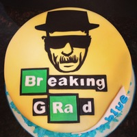 "Breaking ""grad"" Cake (""breaking Bad"") Heisenberg ""Breaking ""GRAD"" Cake for ""Breaking Bad"" fan"