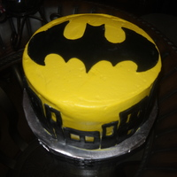 Simple Batman I made this for my son's 7th birthday, just a simple batman cake covered in buttercream with fondant decorations