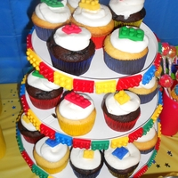 Lego Cupcakes Lego Cupcakes for my sons 8th birthday, legos are made out of fondant