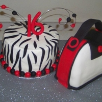 Sweet 16 Zebra Nnd Purse Cake Made this for a friend, first time ever doing any sort of carved cake, very scary! LOL.