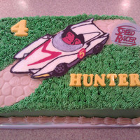 Speed Racer Buttercream with chocolate transfer car.