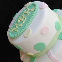 Baby Shower Cake All fondant cake