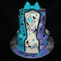 Whimsy Teal & Purple   Inspiration for this cake came from CCer AmyLynn23 - Thanks!