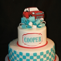 Mini Cooper Birthday Cake For a little boy named cooper