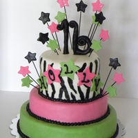 Sweet Sixteen Sweet Sixteen for my friend's daughter. Fondant and buttercream decorations. Modeling chocolate numbers