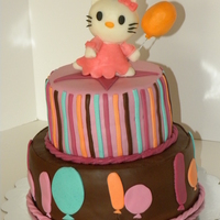 Hello Kitty Made to match decorations. modeling chocolate and fondant decorations