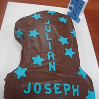 First Birthday First birthday cake, chocolate with fondant