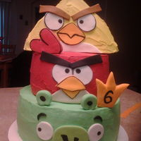Angry Birds 3d angry birds birthday cake