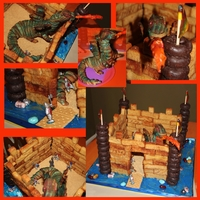 French Toast Castle My son's cake request was to make a cake out of french toast sticks. So he got a castle made from french toast sticks and donuts. What...