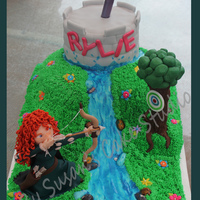 "The Brave Themed Birthday Cake Was Made For My Niece The Cake Itself Is Mostly Buttercream With Fondantmodeling Chocolategumpaste Detai The ""Brave"" themed birthday cake was made for my niece. The cake itself is mostly buttercream with fondant/modeling chocolate/..."