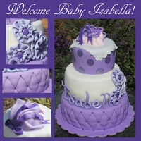 Lavender Baby Shower Cake Baby shower cake for a special couple that has tried for a long time to have this baby girl. So they deserved a special cake! Fondant...
