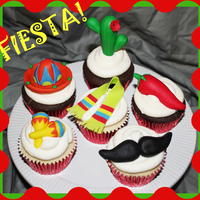Fiesta! Cupcakes I got to make these for a teacher appreciation luncheon with a fiesta theme. You should have seent he set up that was done for them!...