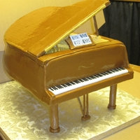 3D Piano Cake