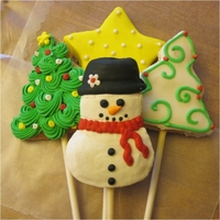 Christmas Sugar Cookie Pops