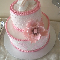 Communion Cake Pink Inspired by Creative Cake designs