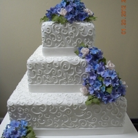 Wedding Cake This cake was made for my good friend....Virna...
