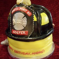 Firefighter Birthday for one of my mom's co-workers' husband's birthday who is a firefighter. she gave me artistic liscense so this is what i...