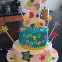 First Birthday Cake All buttercream with fondant accents.
