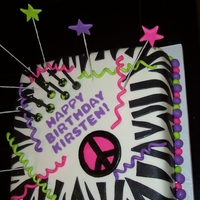 1329329171.jpg   Zebra Stripe Birthday Cake