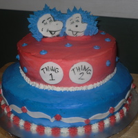 Thing 1 And Thing 2   Baby shower cake for twins