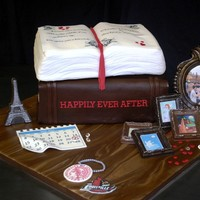 The Library Bridal Shower This cake was for a bridal shower for a woman who works at the University of Louisville Library and was having a shower in a hall called...
