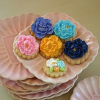 Spring Has Sprung! Sugar cookies with fondant flowers and embellishments.