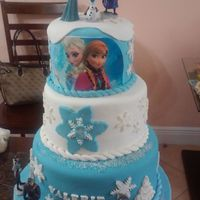 Frozen Birthday Cake For My Granddaughter 3 Birthday Thanks To Whitecrafty For All Tips About Her Beautiful Frozen Cake Once Again Thanks Frozen birthday cake for my granddaughter 3 birthday, thanks to whitecrafty for all tips about her beautiful frozen cake once again thanks...